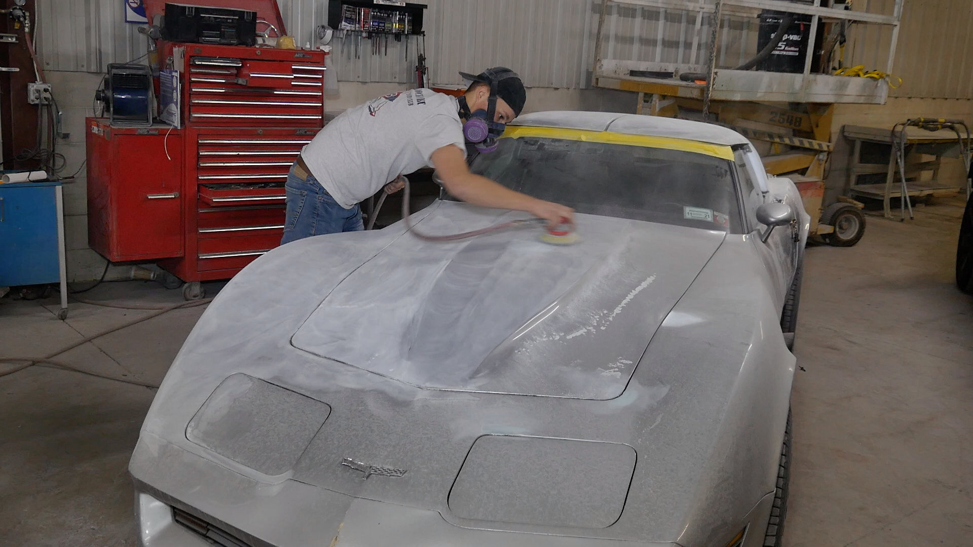 Prepping a car for painting